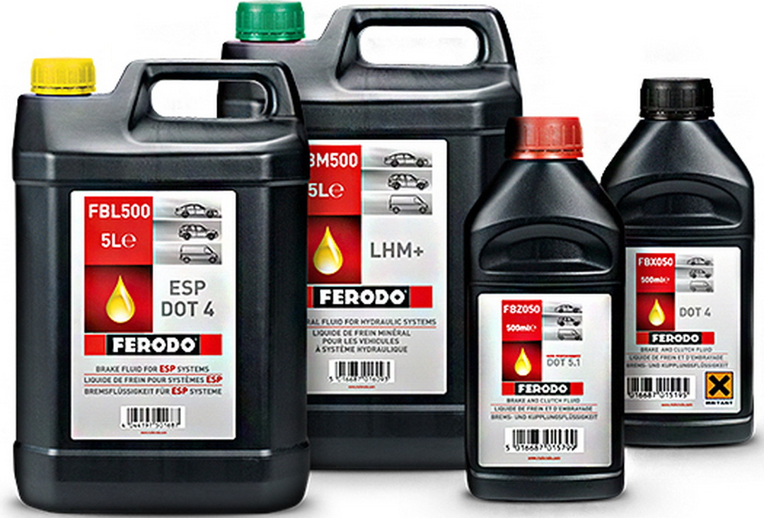 Brake fluids of different standards as exemplified by the Ferodo range