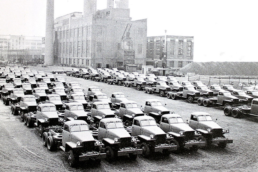Prepared for shipment to the USSR, Studebaker US6 chassis